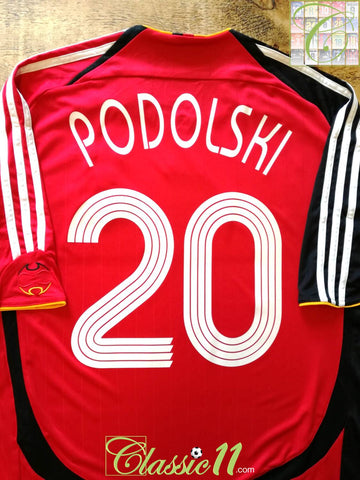 2006/07 Germany Away Football Shirt Podolski #20 (XL)