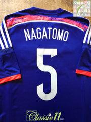 2014/15 Japan Home Football Shirt Nagatomo #5 (M)