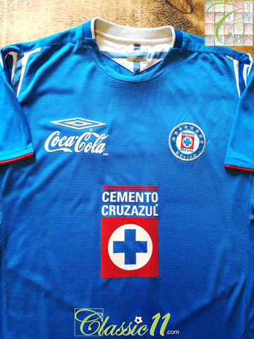 2005 Cruz Azul Home Football Shirt (L)