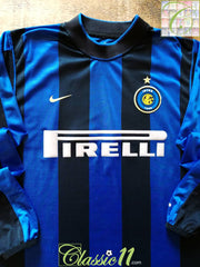 2000/01 Internazionale Home Football Shirt. (XL)