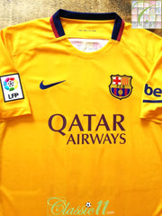 2015/16 Barcelona Away La Liga Football Shirt (S)