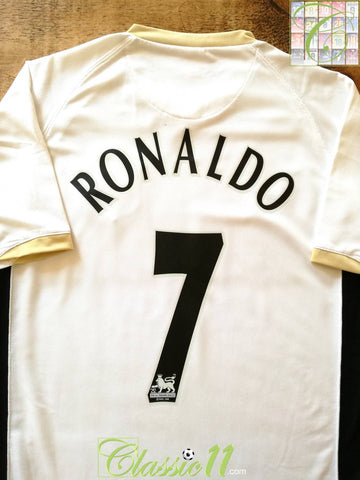 2006/07 Man Utd Away Premier League Football Shirt Ronaldo #7 (XXL)