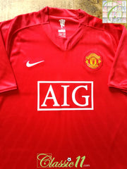 2007/08 Man Utd Home Football Shirt (S)