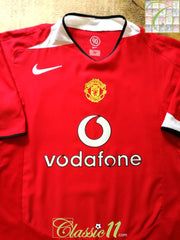 2004/05 Man Utd Home Football Shirt (S)