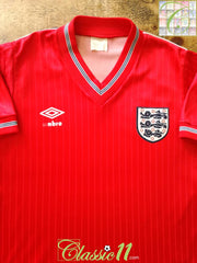 1984/85 England Away Football Shirt (S)