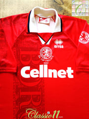 1996/97 Middlesbrough Home 'FA Cup Finalists' Football Shirt (XL)