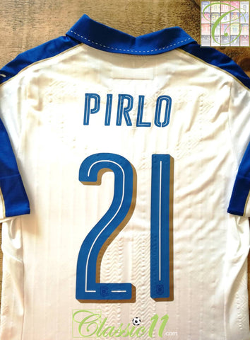 2015/16 Italy Away Player Issue Football Shirt Pirlo #21 (L)