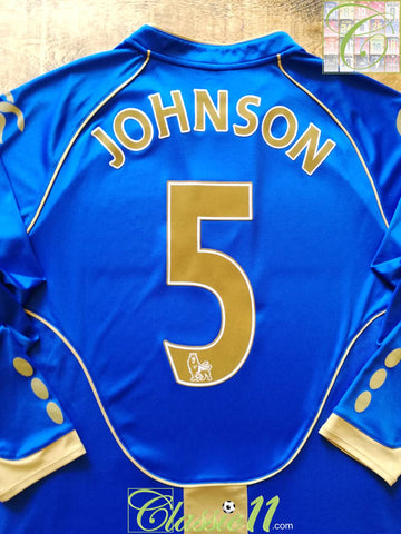 2008/09 Portsmouth Home Premier League Football Shirt. Johnson #5 (L)