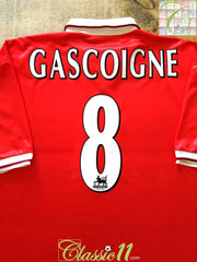 1998/99 Middlesbrough Home Premier League Football Shirt Gascoigne (XXL)