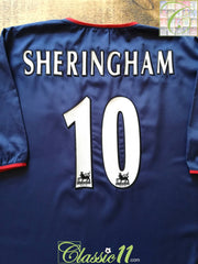 2003/04 Portsmouth Away Premier League Football Shirt Sheringham #10 (XL)