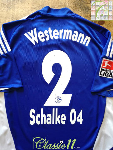 2008/09 Schalke 04 Home Bundesliga Football Shirt Westermann #2 (L)