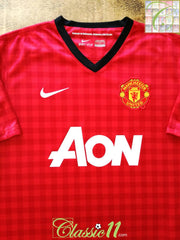 2012/13 Man Utd Home Football Shirt (M)