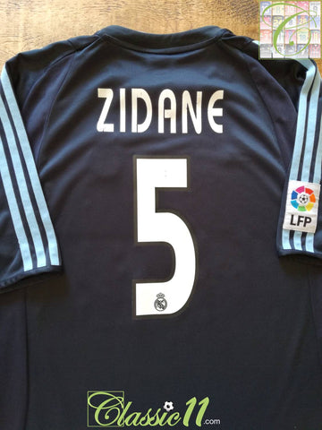 2003/04 Real Madrid Away La Liga Football Shirt Zidane #5 (L)