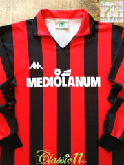 1987/88 AC Milan 'Primavera' Home Football Shirt. (M)