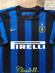 2003/04 Internazionale Home Football Shirt (B)
