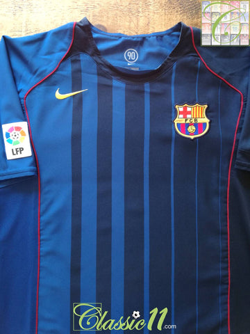 2004/05 Barcelona Away La Liga Football Shirt (M)