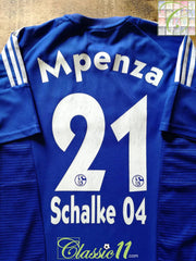 2002/03 Schalke 04 Home Football Shirt Mpenza #21 (M)