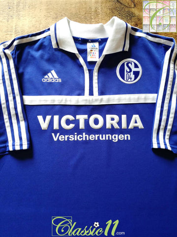 2000/01 Schalke 04 Home Football Shirt (XL)