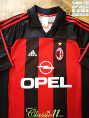 2000/01 AC Milan Home Football Shirt (XL)
