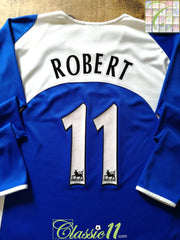 2005/06 Portsmouth Home Premier League Football Shirt. Robert #11 (L)