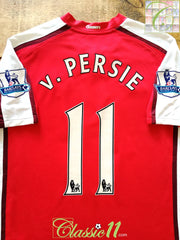 2008/09 Arsenal Home Premier League Football Shirt V. Persie #11 (L)