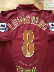 2005/06 Arsenal Home Premier League Football Shirt Ljungberg #8 (M)