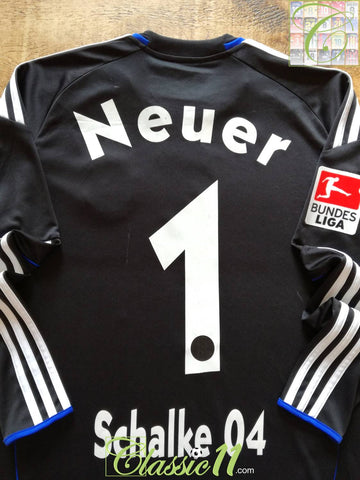 2010/11 Schalke 04 Goalkeeper Bundesliga Football Shirt Neuer #1 (S)