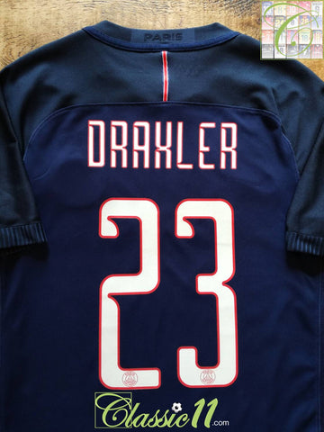 2016/17 PSG Home European Player Issue Football Shirt Draxler #23 (S)
