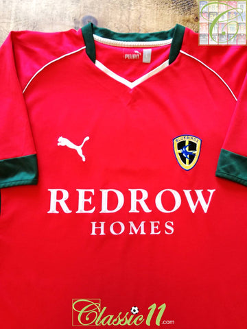 2004/05 Cardiff City Away Football Shirt (L)