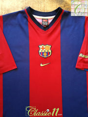 1998/99 Barcelona Home Football Shirt (L)