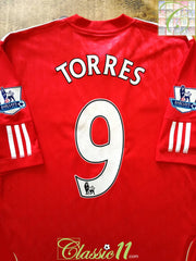 2010/11 Liverpool Home Premier League Football Shirt Torres #9 (XL)