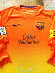 2012/13 Barcelona Away La Liga Football Shirt. (S)