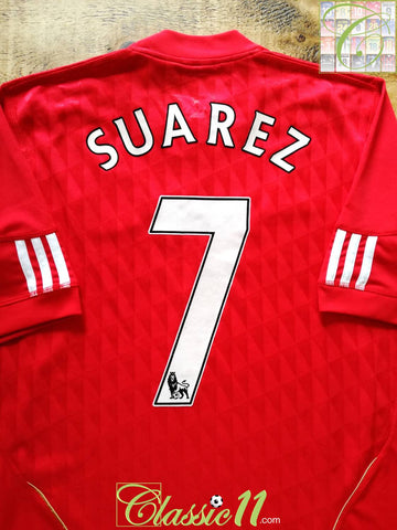 2010/11 Liverpool Home Premier League Football Shirt Suarez #7 (M)