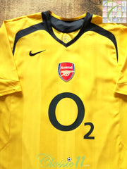2005/06 Arsenal Away Football Shirt (XL)