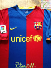 2006/07 Barcelona Home La Liga Football Shirt. (XL)