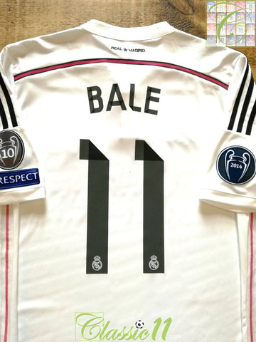 2014/15 Real Madrid Home Champions League Football Shirt Bale #11 (L)