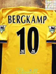 1999/00 Arsenal Away Premier League Football Shirt Bergkamp #10 (M)