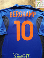 2000/01 Netherlands Away Football Shirt Bergkamp #10 (M)