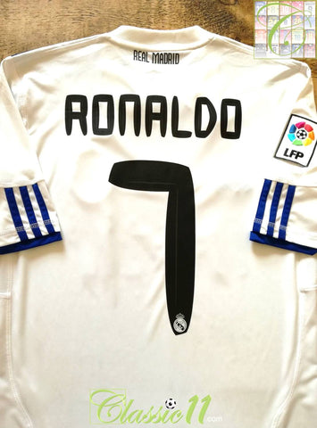 2010/11 Real Madrid Home La Liga Football Shirt Ronaldo #7 (S)