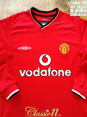 2000/01 Man Utd Home Football Shirt. (Y)