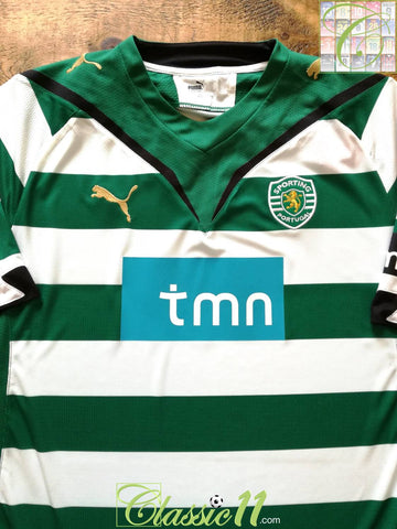 2009/10 Sporting Lisbon Home Football Shirt (XL) *BNWT*