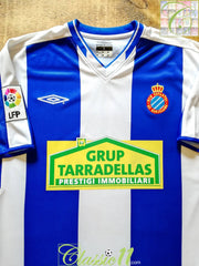 2002/03 Espanyol Home La Liga Football Shirt (L)