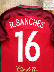 2016 Portugal Home Player Issue Euro Final Football Shirt R.Sanches #16 (S)