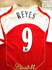 2004/05 Arsenal Home Premier League Football Shirt Reyes #9 (XXL)