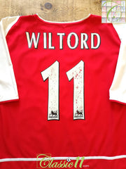 2002/03 Arsenal Home Premier League Football Shirt Wiltord #11 (XL)