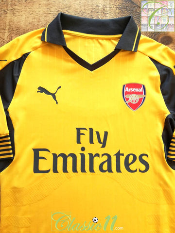 2016/17 Arsenal Away Player Issue Football Shirt (L)