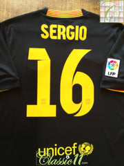 2013/14 Barcelona 3rd La Liga Football Shirt Sergio #16 (M)
