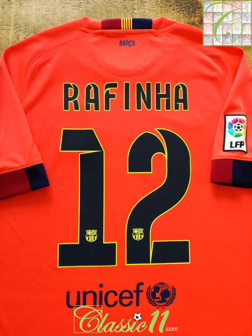 2014/15 Barcelona Away La Liga Football Shirt Rafinha #12 (M)