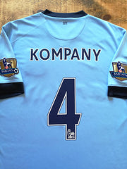 2014/15 Man City Home Premier League Football Shirt Kompany #4 (M)