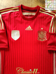 2013/14 Spain Home Football Shirt (S)